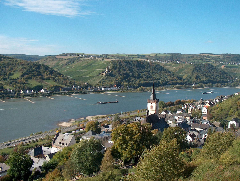 Blick über Lorch am Rhein