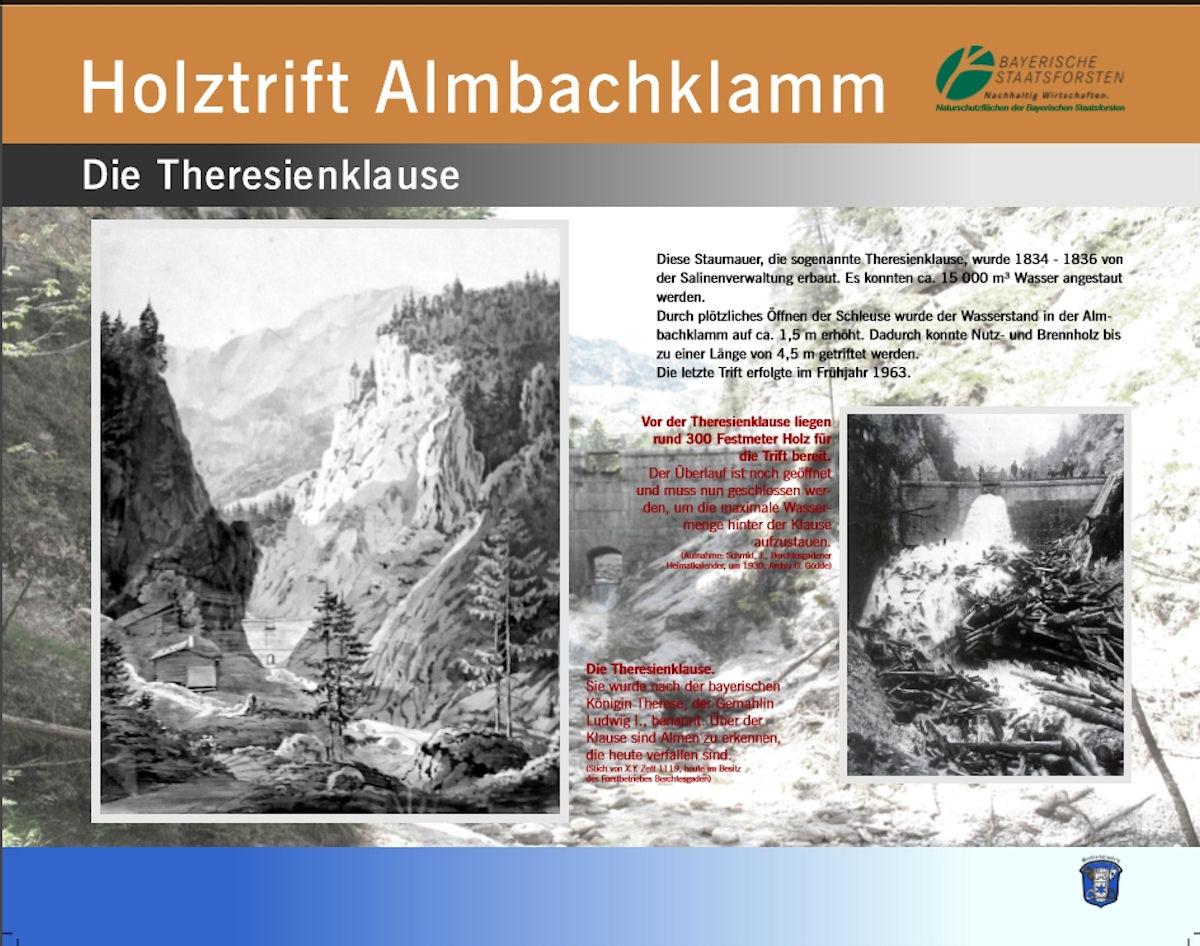 Holztrift Almbachklamm