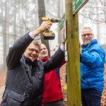 Neue Notfallmeldeschilder im Taunus – GPS kann Lebenretten
