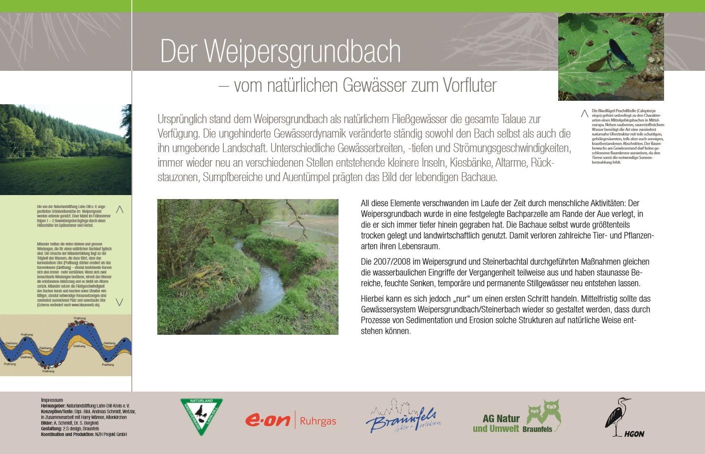 Informationstafel des Naturlehrpfades Weipersgrund