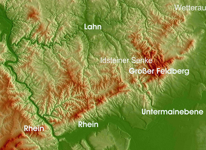 Naturraum Rhein-Main-Gebiet und Taunus