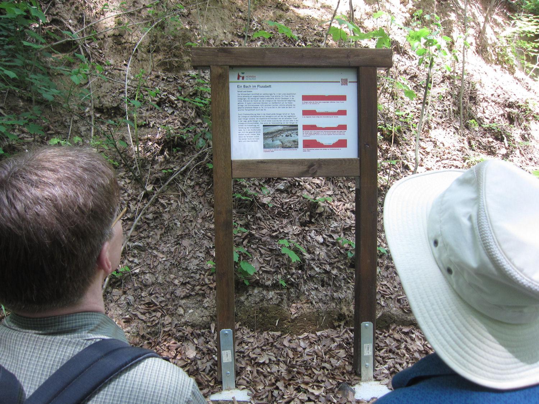 """Informationstafel am Wanderweg """"Mensch und Erde"""""""