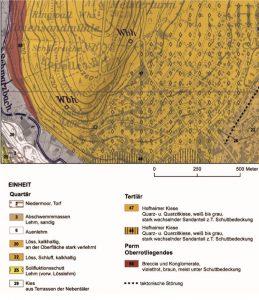Geologische Karte des Kapellenberges