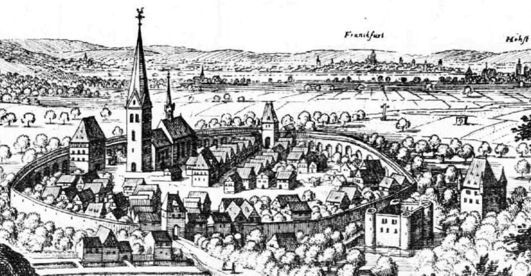 Hofheim mit Stadtmauer