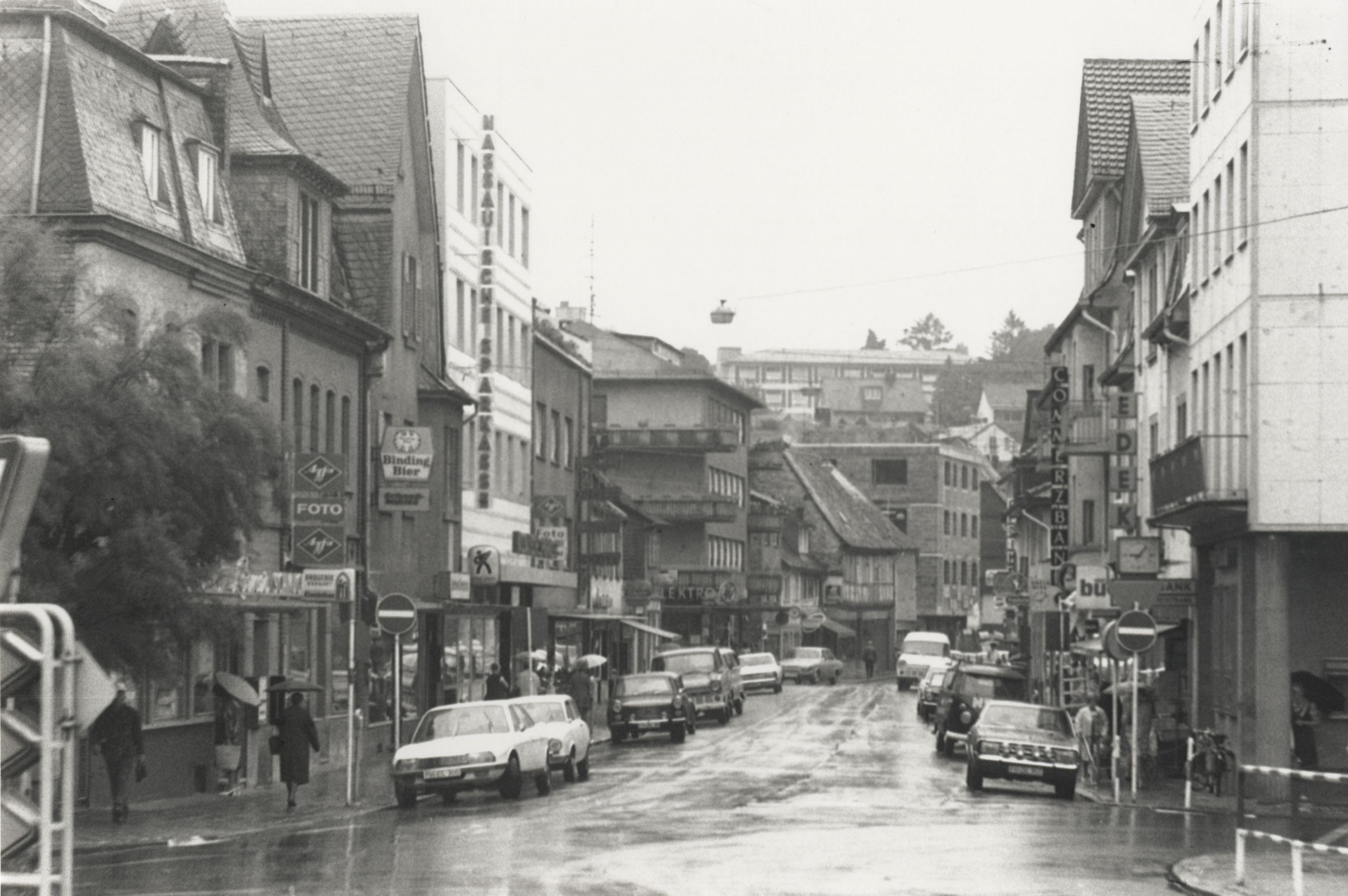 Hauptstraße im Jahr 1970